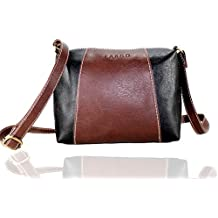 Fargo Motley PU Leather Women's & Girl's Cross Body Side Sling Bag (Brown,Black_FGO-073)
