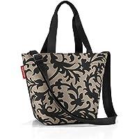 Reisenthel Shopper XS, bolsa para gastos, para ir de compras, taupe barroco/fantasía de color marrón claro y negro, ZR7027