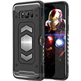 [Sponsored]Cubix Shock Proof Case For Samsung Galaxy S8 (Black) Metal Shield Cover Compatible With Magnetic Car Mount And Card Slot