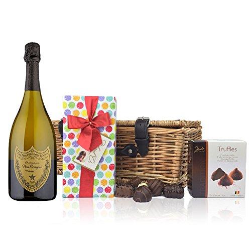 DomPérignonund Schokolade Geschenkkorb