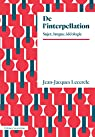 De l'interpellation: sujet, langue, idéologie par Lecercle