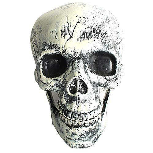 YMN Halloween-Dekoration, Schädel Harz Verrückte Neuheit Spielzeug Menschlicher Skelettkopf, für Halloween-Partys/Pubs/Anatomische Verfolgung oder Medizinisches - Verrückte Gespenster Kostüm
