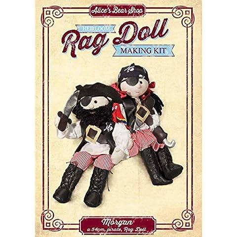 Kit para hacer Muñeca de trapo Morgan–54cm (marioneta de dedo con libre Parrot Kit)