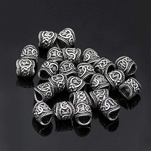 king Runes Beads Charms Für Armbänder Anhänger Halskette Bart Oder Haar Alten Norse Viking Mann Frauen Rune Haar Bart Armband Anhänger Halskette DIY Zubehör ()