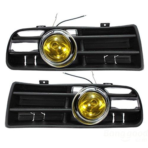 mark8shop gelb Nebelscheinwerfer LED Licht Lampe unten Gitter für 98-04VW Golf MK4