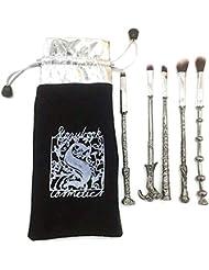 Make-up-Pinsel-Set 5pcs Schönheit Bürsten, Harry Potter Zauberstab kosmetische Bürste (Splitter)