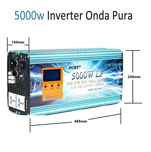 Inverter Pure Wave 5000w Onda Pura Del Seno DC 24V to AC...