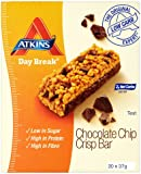 Atkins 37g Day Break Chocolate Chip Crisp Bars - 4 x boxes of 5 (20 Bars)