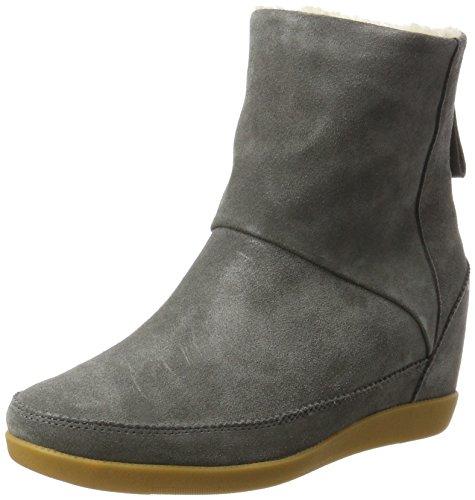 Emmy Fur Stiefel, Grau (141 Dark Grey), 39 EU (Damen Grau Keil Stiefel)