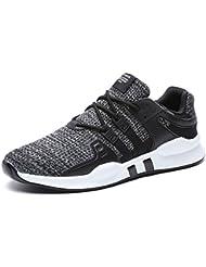 IIIIS-F Hombre Zapatillas de Senderismo Deportivas Aire Libre y Deportes Monta?a y Asfalto Zapatos para Correr Running Malla Transpirable Casuales