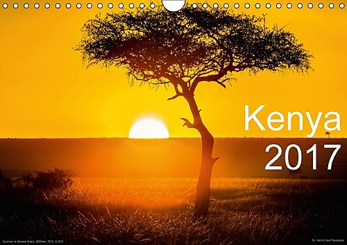 Preisvergleich Produktbild Kenya 2017 / UK-Version (Wall Calendar 2017 DIN A4 Landscape): Animals and landscapes of Kenya, Afrika (Monthly calendar, 14 pages ) (Calvendo Nature)
