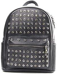 HONGCE Bolsa de viaje con tachuelas para mochilas, bolsa de hombro con remaches, resistente