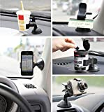KNK Plastic Slicone Suction Cup Car Dashboard. Front Glass Home Table Mobile Phone Holder with Screen Display for and iOS Devices (5-6-inch)