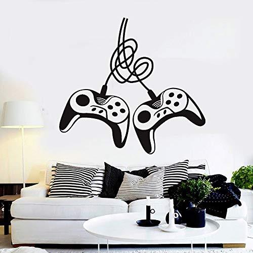 jiushizq Vinyl Wandtattoos Zwei Gamepads Videospiel Gaming Art Aufkleber Für Kinder Kinder Schlafzimmer Dekoration Abnehmbare Y42x47 cm