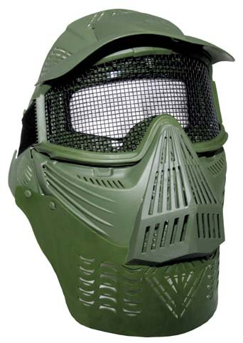 Gotcha Softair Paintball Maske Vollschutzmaske oliv