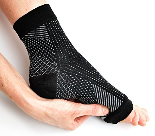 51BCpeA7gnL - NO.1 BEAUTY# Plantar Fasciitis Compression Socks (Two Sleeves) with Arch Support for Fast Acting Pain Relief (Black, Medium UK 4 - 9) Reviews  Best Buy price