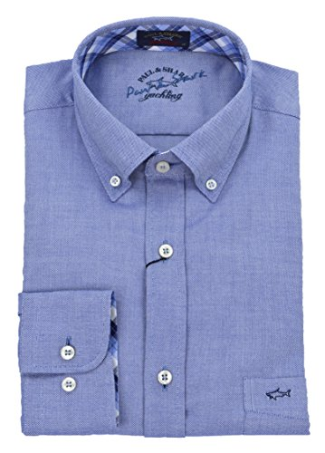 Paul & shark uomo camicia button down oxford celeste i17p3001 503-25946 - 39