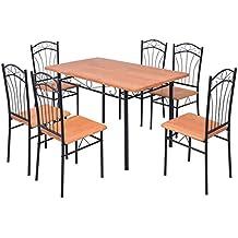 Amazon.es: Conjunto mesa y 6 sillas