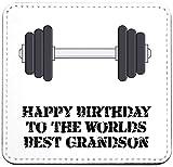 Co23 Untersetzer mit englischer Aufschrift'Happy Birthday to The Worlds Best Grandson',...