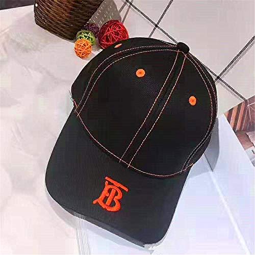 2019 Frühling und Sommer Mode lässig einfache TB Cap Baseball Cap Flut Hut Stickerei Buchstaben Männer und Frauen 黑色 黑色 可