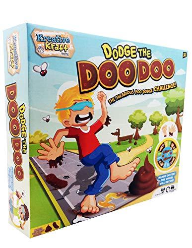 KreativeKraft Dodge The Doo Doo Juego de Mesa para Niños y Adultos con Alfombra Juegos Plastilina Juguete Divertido