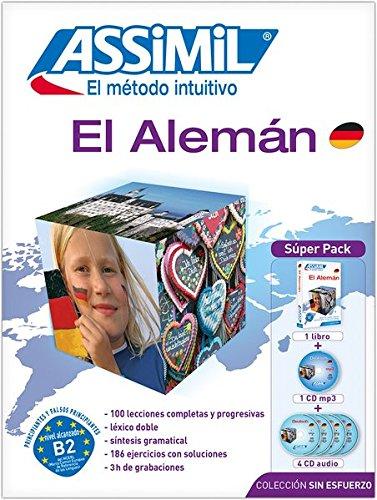 ASSiMiL El Alemán - Colección 'sin esfuerzo' Super Pack / Deutsch Sprachkurs auf Spanisch: Multimedia-Kombination: Lehrbuch Deutsch für Spanier + 4 Audio-CDs + mp3-CD - (DaF-Niveau A1 – B2)