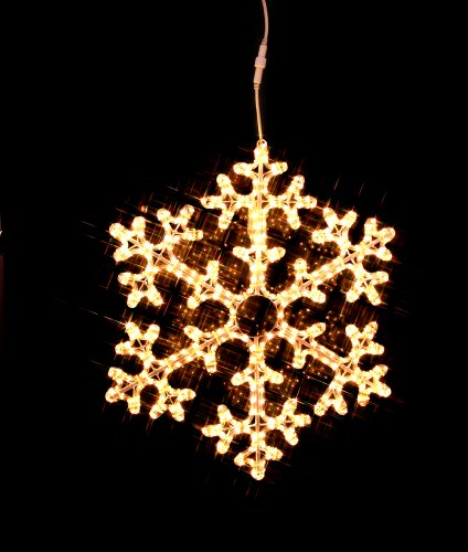 Star 75 cm Outdoor Box Snowflake Rope Light Silhouette Extendable with 360 Warm White LED