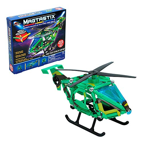 Cra-Z-Art - Juego construcción helicóptero, 49 piezas Magtastix (85336)