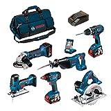 Bosch Kit PSB7MXM3B Professional (GWS 18 V-Li + GSB 18 V-LI + GST 18 V-LI S + GDX 18 V-LI + GKS 18 V-LI + GSA 18 V-LI + GLI VarrLED + 3 x 4,0Ah + LBAG)