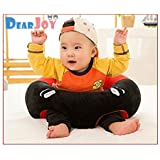 DearJoy Toddler Training Seat And Baby Safety Sofa Dining Chair + Learn To Sit Stool (Red)