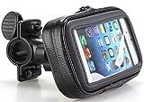 best-4sale Wasserfeste Handy Fahrrad Motorrad Halterung Tasche Outdoor Navi Halter Smartphone Tasche Case Gr. M 137x70 mm Fahrradtasche