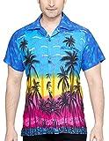 SWEET NECTAR Camisa hawaiana florar casual manga corta ajustado para hombre M