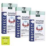 BADERs PROTECT Zahnpflege Kaugummi aus der Apotheke. Weniger Belag, weißere Zähne. Zuckerfrei, mit 100% Xylit. 3 x 16 St. Pharmazentralnummer: M04451478