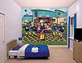 Familie24 XXXL Wandbild 243 x 305cm Auswahl Kindertapete Tapete Wanddekoration Wandbild Wandaufkleber Wandtattoo Feuerwehrman Sam Spiderman Minnie Micky (Feuerwehrmann Sam)