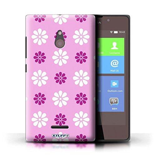 Kobalt® Imprimé Etui / Coque pour Nokia XL / Violet conception / Série Motif avec pétales Rose