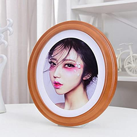Aoligei Fashion simple oval solid wood frame pendulum 23*28cm