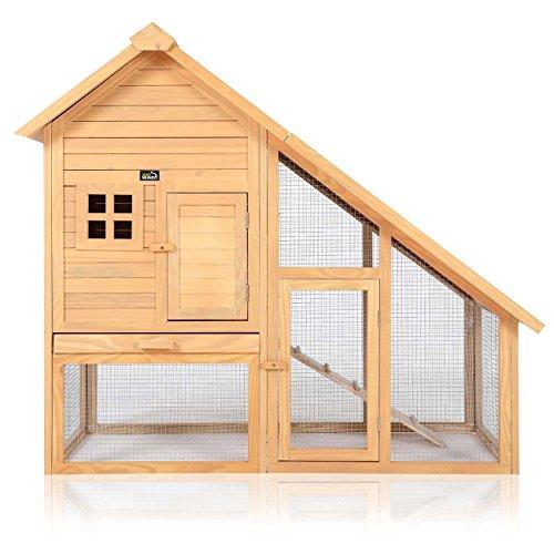 zoomundo Clapier Cage à Lapin avec Toit incliné et enclos extérieur Animaux de Compagnie Cobaye Mouse Enclos Jardin en Bois