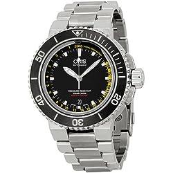 Oris Aquis Profundidad calibrador Mens Reloj 73376754154RS