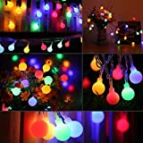 LE 10m 100 LED Festoon Lights, Plug in Multi Colored Globe String Lights, 8 Modes Water Resistant Fairy Lights for Party, Garden, Patio and More Bild 8