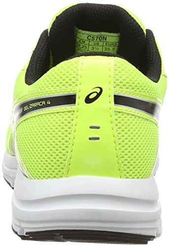 Asics Gel-zaraca 4 Gs, Unisex-Kinder Laufschuhe flash Yellow - black - silver
