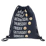 Emoji sacca portatile backpack- borse da toilette Tote borse da viaggio zaino sport palestra zaino nero borsa shopper Ted Baker Xiyunte VC033G Ted Baker shopper Xiyunte VC033, donna, Emoji