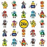 Roboter Kinder Tattoos / für Jungen und Mädchen / Mitgebsel / Kindergeburtstag / Robot / Kinder Tattoo Set von PartyPackTM (24)
