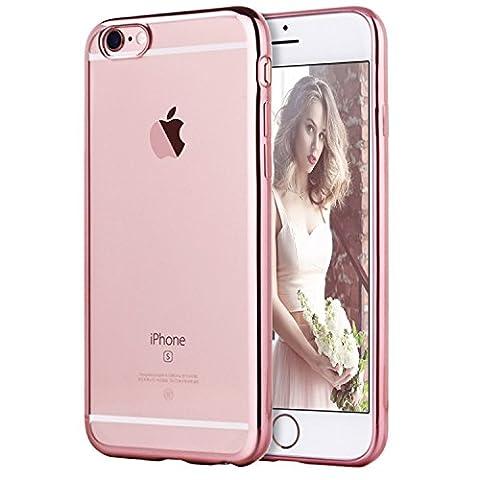 Coque iPhone 6/6s, Transparent Clair Gel Silicone [Ultra Slim] + [Anti-Rayures] + [Anti-Choc] Bumper en TPU Souple Coque Clair Étui Housse pour Apple iPhone 6/6s - 4.7 Pouces 2015