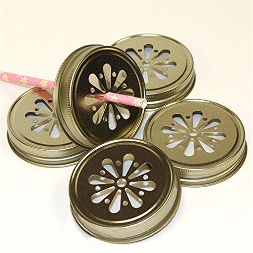 Sharplace Ball Mason Jar Lids 10er Set - Gold (Mason Jar Lids-daisy)