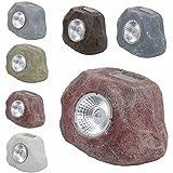 LS Design 4x LED Stein Solarleuchte Solarlampe Solar Lampe Leuchte