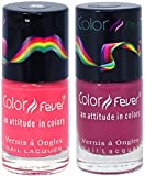 Best Cherry Nail Polish Sets - Color Fever Nail Gloss and Polish Set, Peach Review