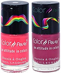 Color Fever Nail Gloss and Polish Set, Peach Blush, 17g (Pack of 2)