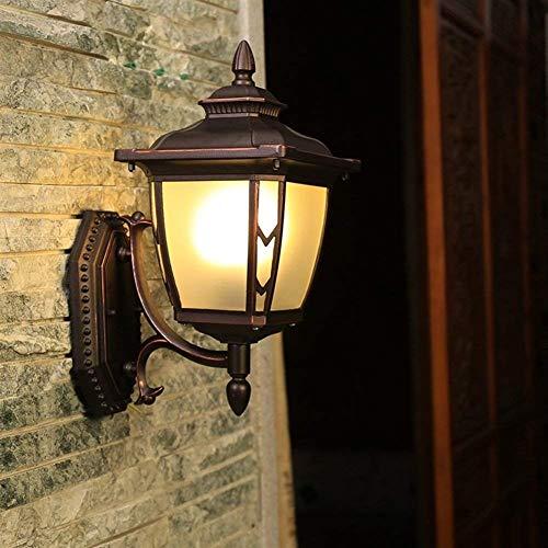 (Braun) (Größe: Oben) 1-Licht Außenwand Up/Down Laterne, E27 Traditionelle Veranda Wasserdicht IP55 Garten Licht Verzierte Terrasse Innen Außen Hängende Beleuchtung - Acht Licht-anhänger Kronleuchter