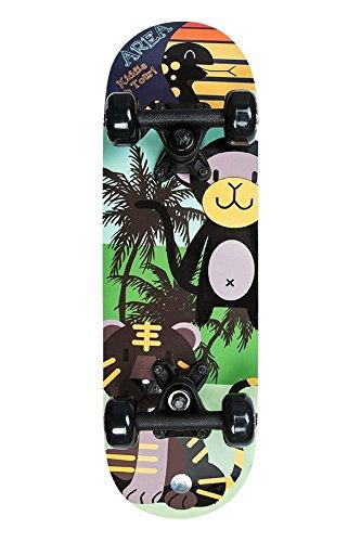 """Area Kinder Skateboard Black Animals, 20"""" / für Mädchen und Jungen ab 3 Jahren / ca. 51 x 15 cm"""