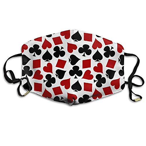 (Poker Playing Card Face Mouth Mask Unisex Polyester Comfy Anti Dust Masks)